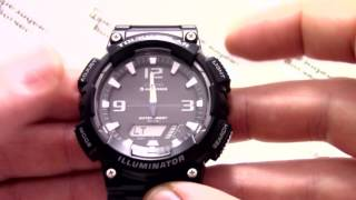 Годинник Casio Illuminator AQ-S810W-1A - Інструкція, як налаштувати від PresidentWatches.Ru