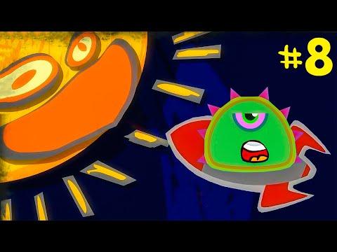Лизун СЛИЗНЯК захватывает мир #8. Глазастик съел всех на луне. Серия 2. Игра Mutant Blobs Attack