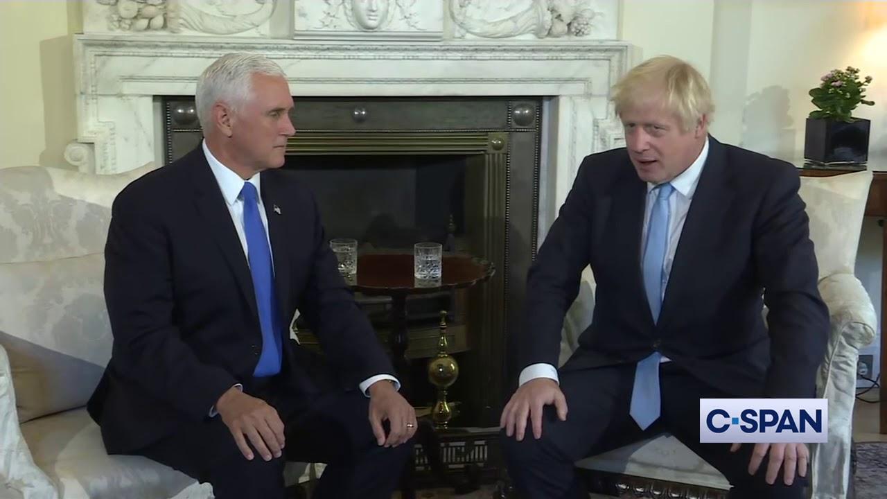 CSPAN VP Mike Pence meets with PM Boris Johnson
