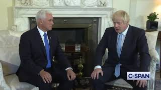 VP Mike Pence meets with PM Boris Johnson