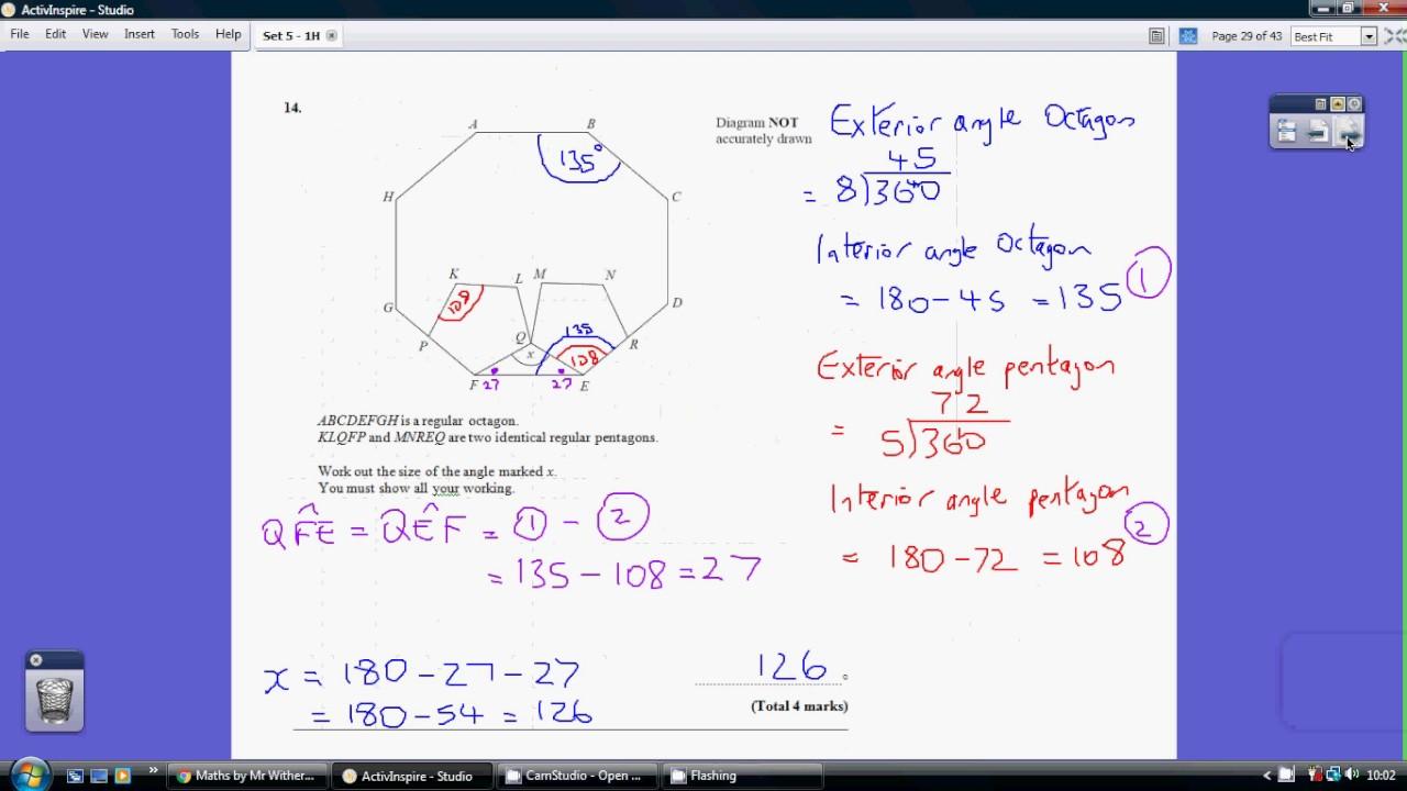 Edexcel GCSE Mathematics 9-1 Practice Tests Set 5 - 1H - YouTube