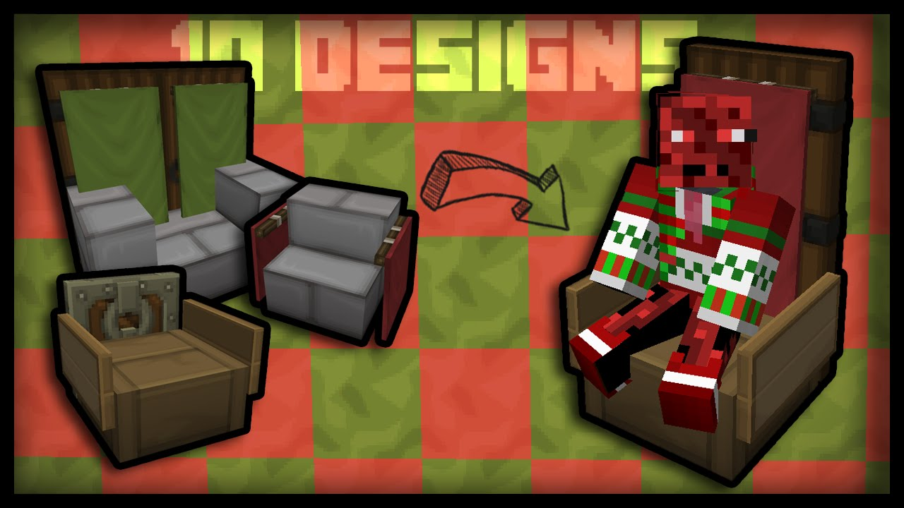 Minecraft: How To Make Working Chairs (10 Chair Designs)   YouTube