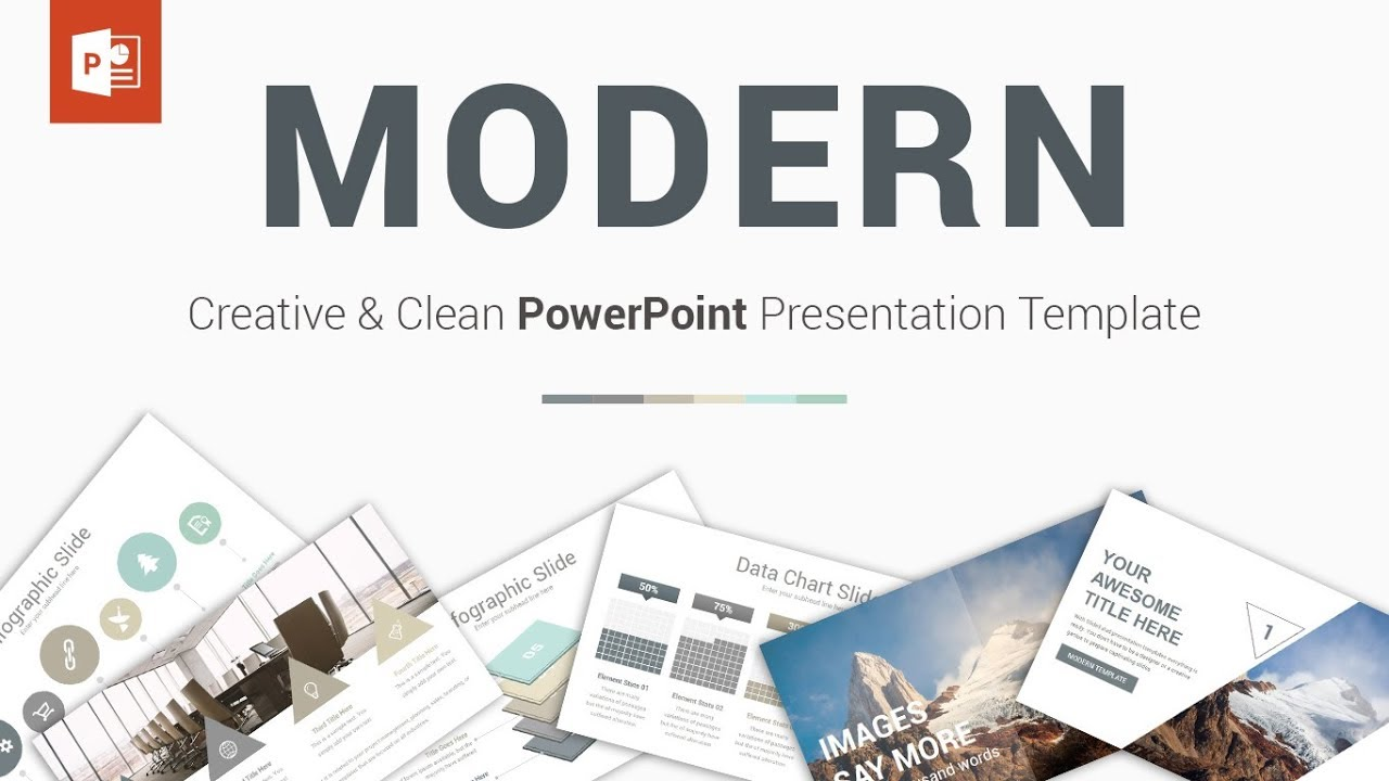 modern - best powerpoint presentation template
