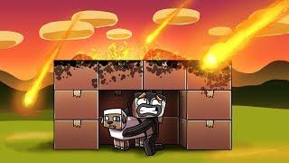 Minecraft - BOX FORT METEOR CHALLENGE! (Box Fort vs Apocalypse)