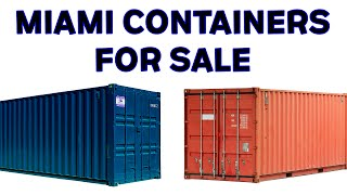 ✔️ Shipping Containers For Sale Miami | Call 321-231-7076 For The Best Deal!