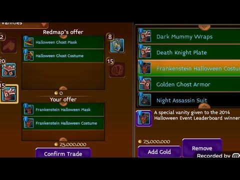 Arcane Legends:Buying Ghost Halloween Set 2014 For 500m