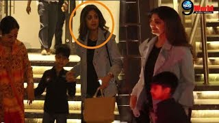 Shilpa Shetty with Her Son Viaan Raj Kundra & Mother Spotted At Juhu, Mumbai | Full HD Video