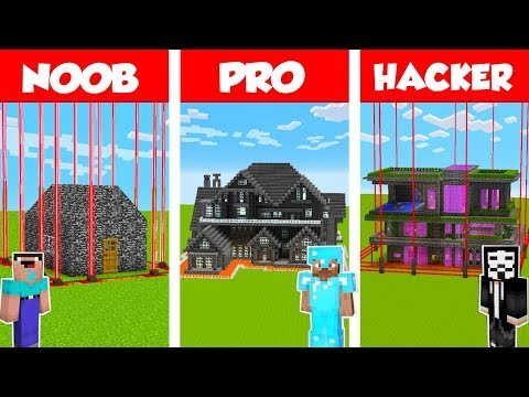 Minecraft PRO vs NOOB vs HACKER: SAFEST BEDROCK HOUSE CHALLENGE in Minecraft / Animation