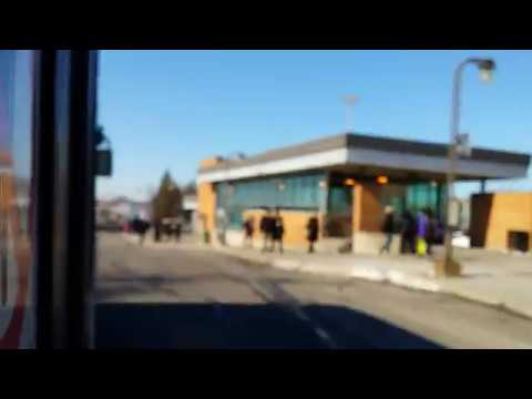 Short bus ride near Fairview Terminus on the West Island of Montreal - Route 200 West