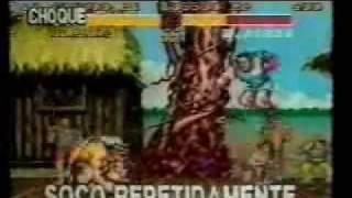 Game TV (Gazeta) - Trechos: Parte 2. Ensinando os golpes de Street Fighter II Turbo (SNES)
