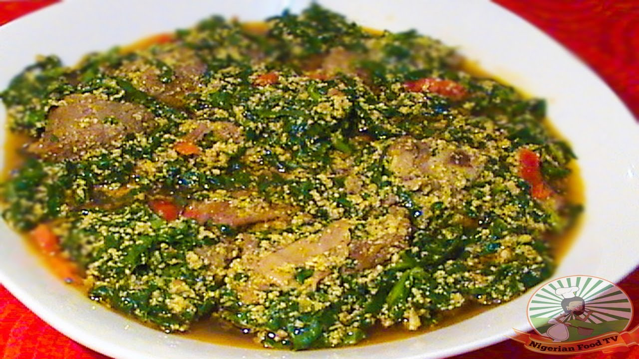 Nigerian Egusi Soup With Fresh Fish Spinach Obe Efo Elegusi Ofe Egusi Nigerian Food Recipes Youtube