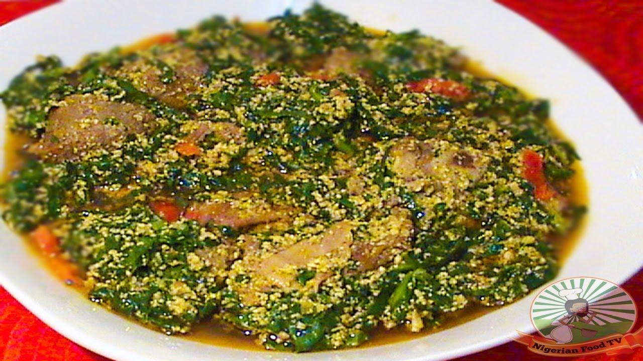 Nigerian Egusi Soup With Fresh Fish Spinach Obe Efo Elegusi Ofe Egusi Nigerian Food Recipes Youtube