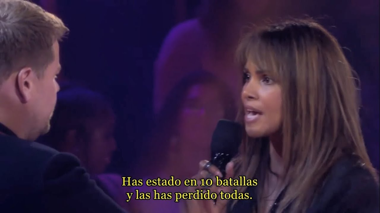 Drop the Mic (sub. español): Halle Berry vs James Corden