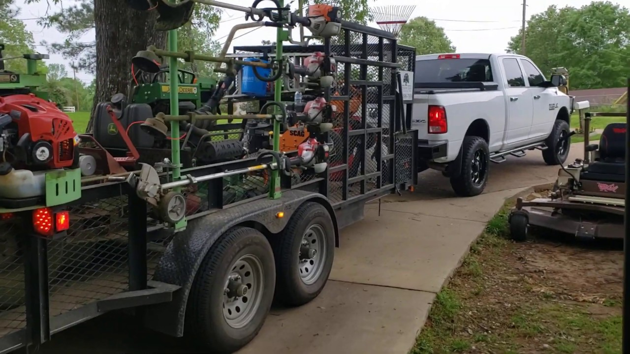 2020 Ultimate Lawn Care Setup!! Trailer and truck setup - example