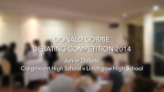 Donald Gorrie Schools Debate