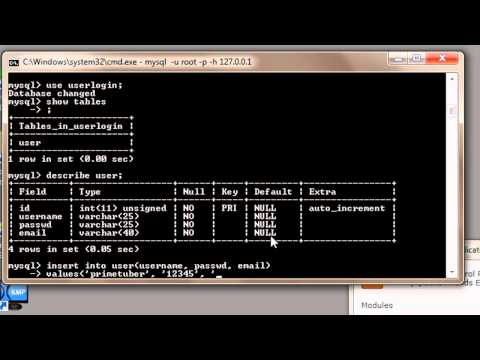 MySQL Tutorial for Beginners - 2 - Adding Data to Tables in a Database