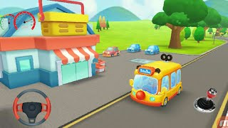 Little panda school bus| go shopping kids cartoon| kids videos kids cars videos baby bus part 2