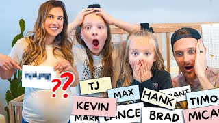 CHOOSING OUR BABY'S NAME! (Baby Boy Name Reveal)
