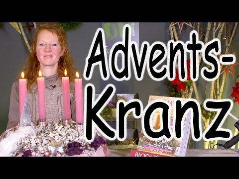 DIY: Adventskranz | Adventsdeko | Tischdeko | Weihnachtsdeko | Kranz binden | Floristik24