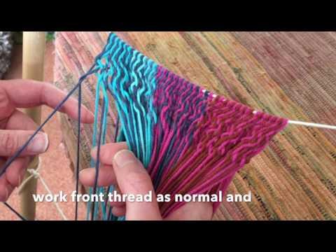Alternating Z And S Twist In Sprang