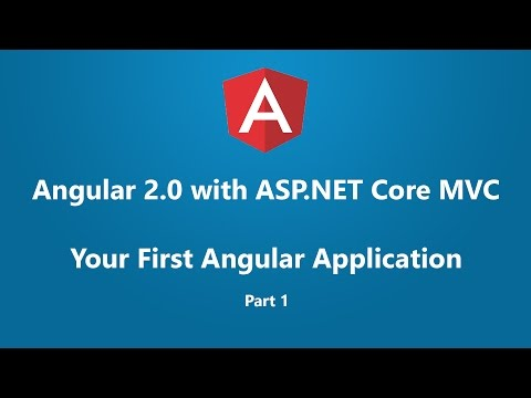 Angular 2 with ASP.NET Core MVC - Your First Angular Application Part 1