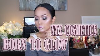 MAKEUP LOOK USING NYX BORN TO GLOW AND DUO CHROMATIC LIP GLOSS SPONSORED | ARREM