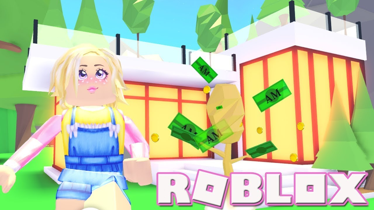 Money Trees New Mansion Roblox Adopt Me Youtube