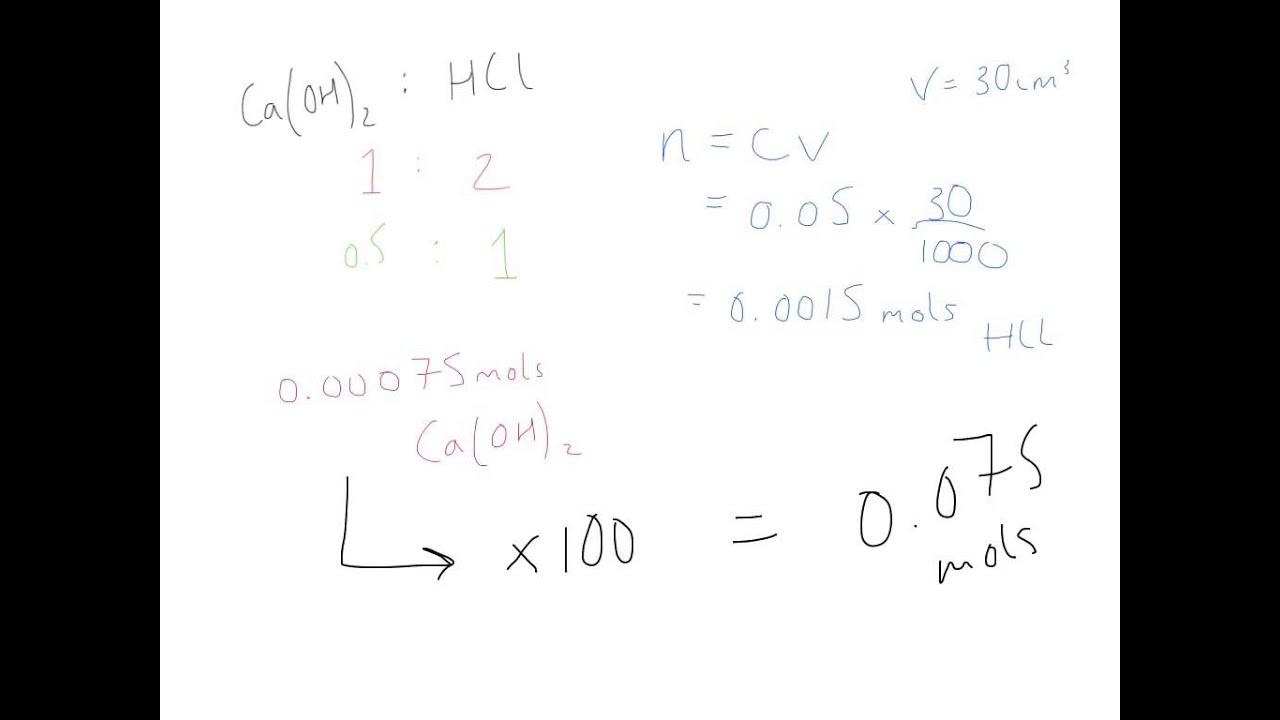 Determining the solubility of calcium hydroxide via