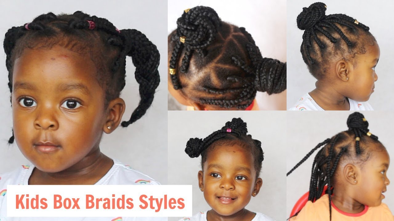 7 Cute Toddler Kid Box Braids Styles Neknatural Youtube