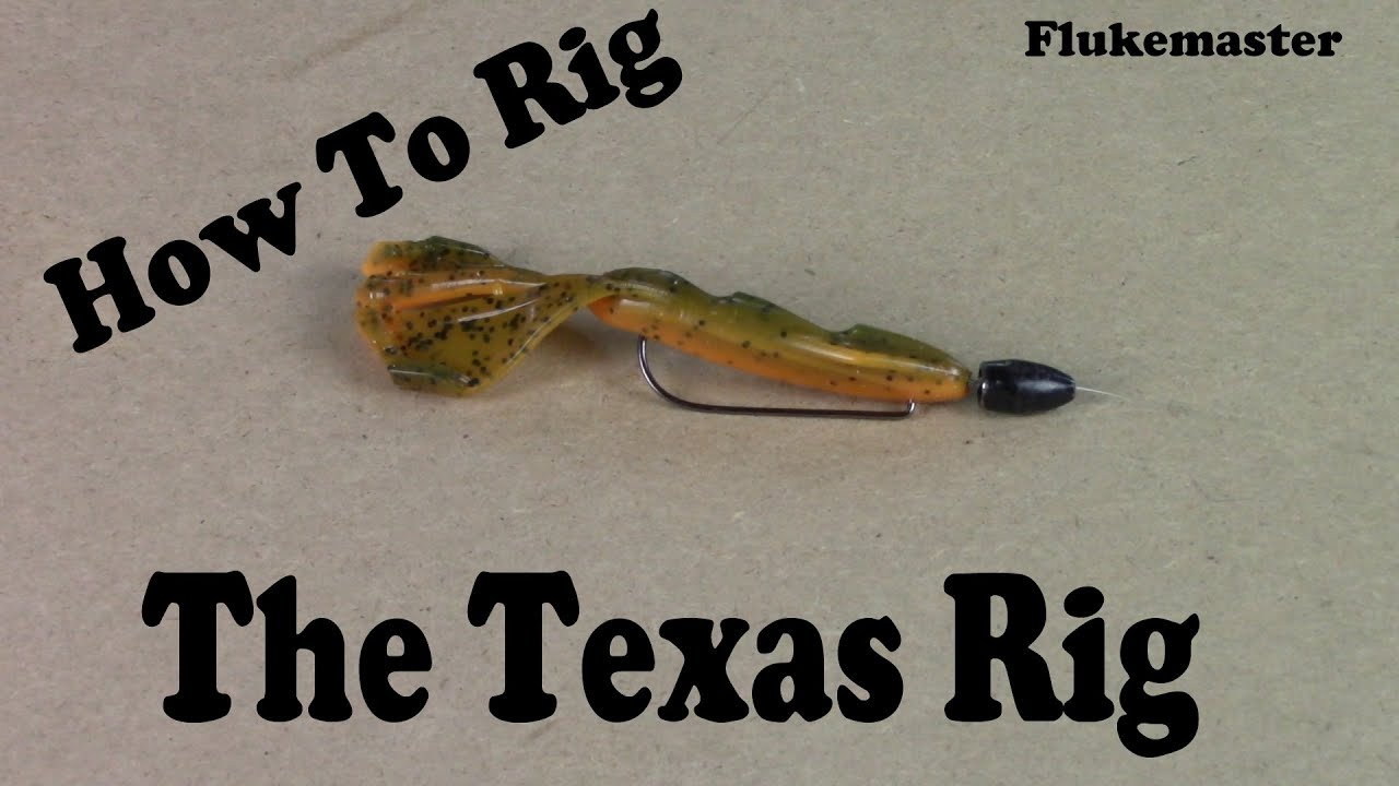 How to rig a texas rig youtube for Texas rig bass fishing