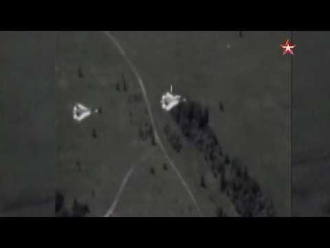 Боевой разворот Су 57 сняли с беспилотника