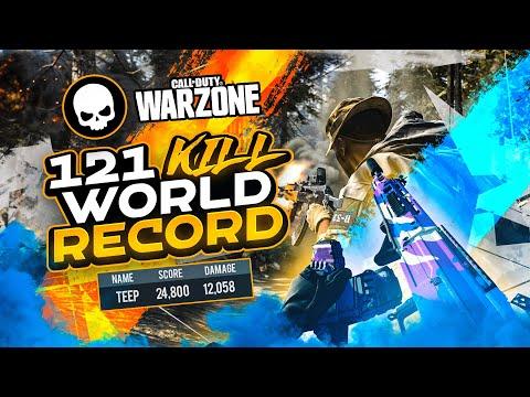 *NEW* WARZONE SQUADS WORLD RECORD! 121 KILLS INSANE GAME! (WARZONE)