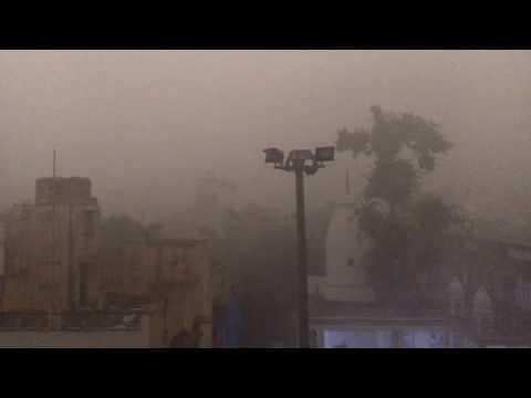 Ferocious winds in Delhi.