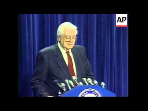 USA: CLINTON IMPEACHMENT TRIAL: REACTION TO DALE BUMPERS SPEECH