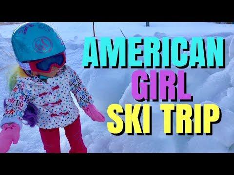 American Girl Doll Ski Trip