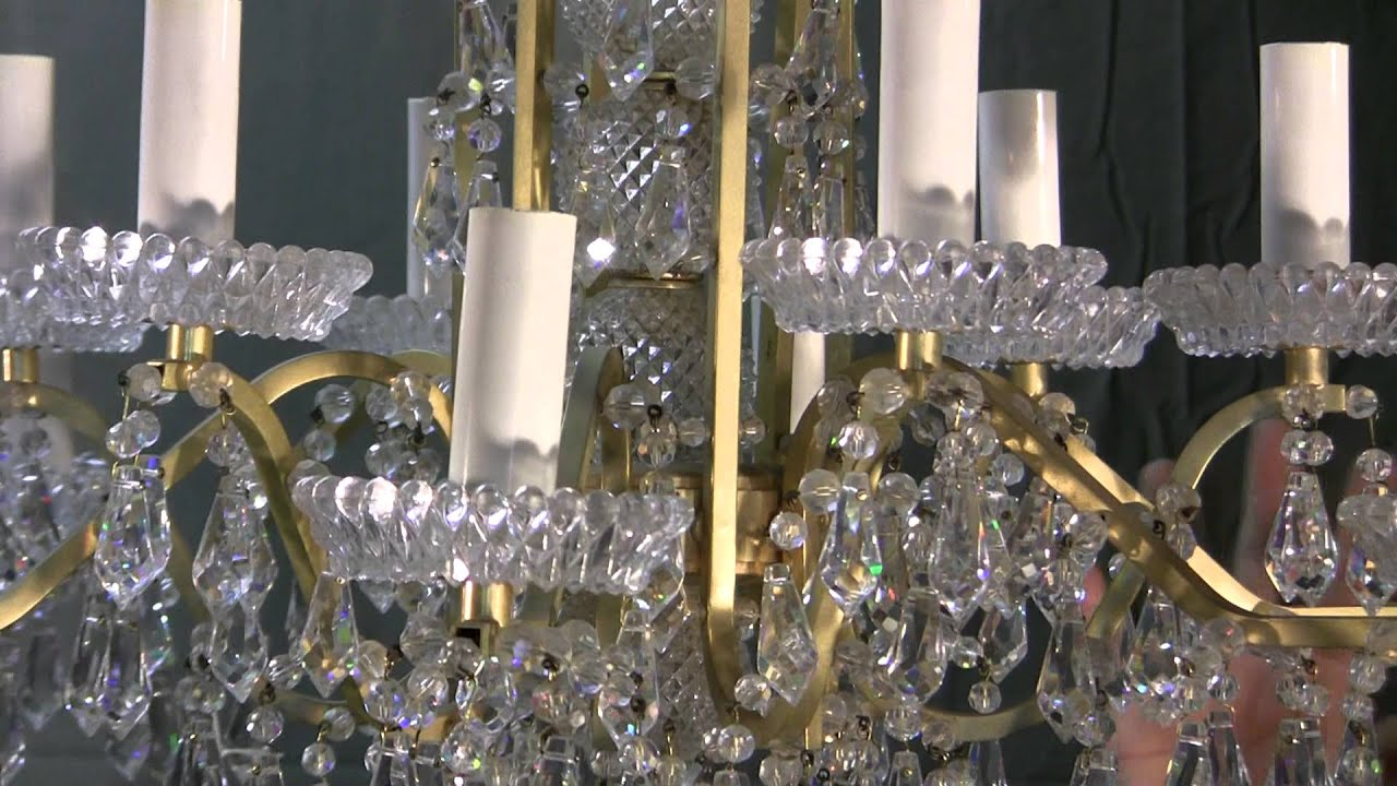 Chandelier hand cut austrian crystal chandelier 1930s era youtube mozeypictures