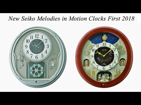 New Seiko Melodies in Motion Clocks - First 2018 Update (2018年新セイコー時計)