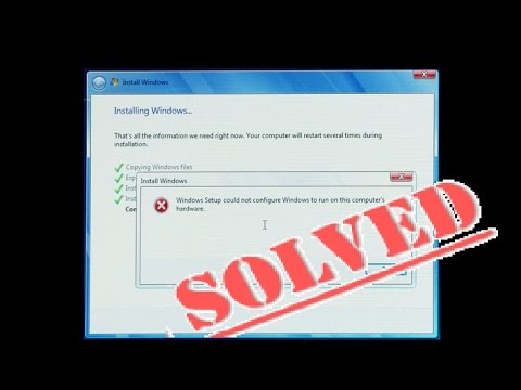 Fix WINDOWS SETUP COULD NOT CONFIGURE Run Computers Hardware (Dell HP Toshiba Lenovo Acer ASUS MSI 7