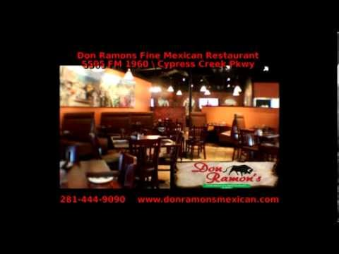 Best Mexican Seafood & Margaritas  on FM 1960 .Don Ramon's Fine Mexican Restaurant & Bar