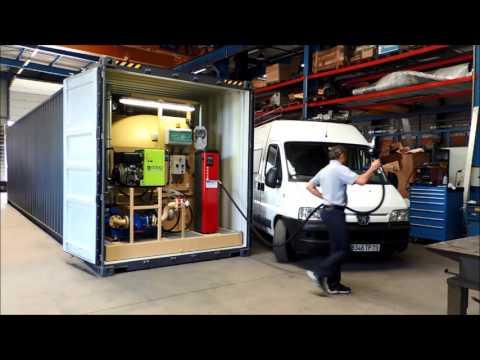 STATION-SERVICE AUTONOME EN CONTAINER ISO ECOTANK 40m3 GASOIL