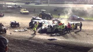 2014 imca supernationals modified a main wreck 9 5 2014