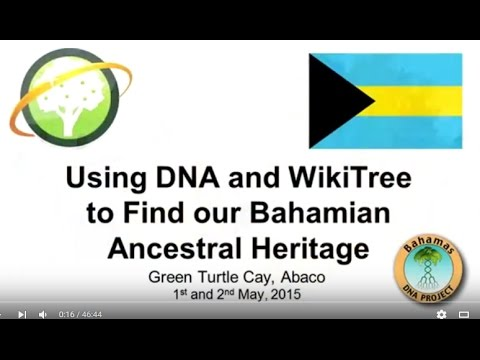 Using DNA and WikiTree to Find our Bahamian Ancestral Heritage
