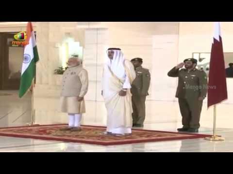 PM Modi Recieves Grand Ceremonial Welcome At Emiri Diwan   Doha   Modi Qatar Tour   Mango News