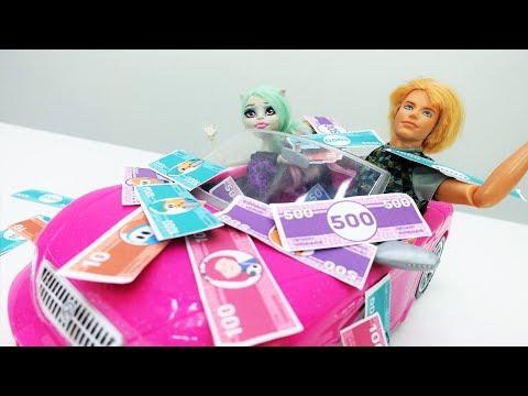 Видео для девочек. #Кен поймал золотую рыбку!🐠 СКАЗКА на новый лад. Игры с #Барби на #Лайкландия