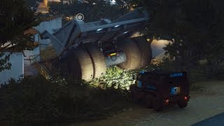 Bringing a Dump Truck to a garage in Just Cause 3