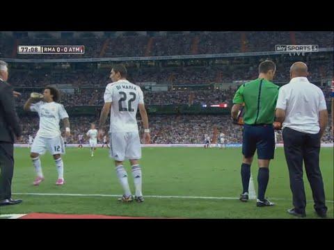 angel di maria last game vs atletico madrid home english commentary 2014 hq