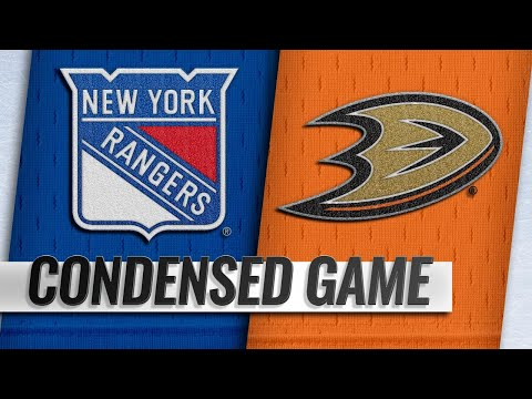 11/01/18 Condensed Game: Rangers @ Ducks