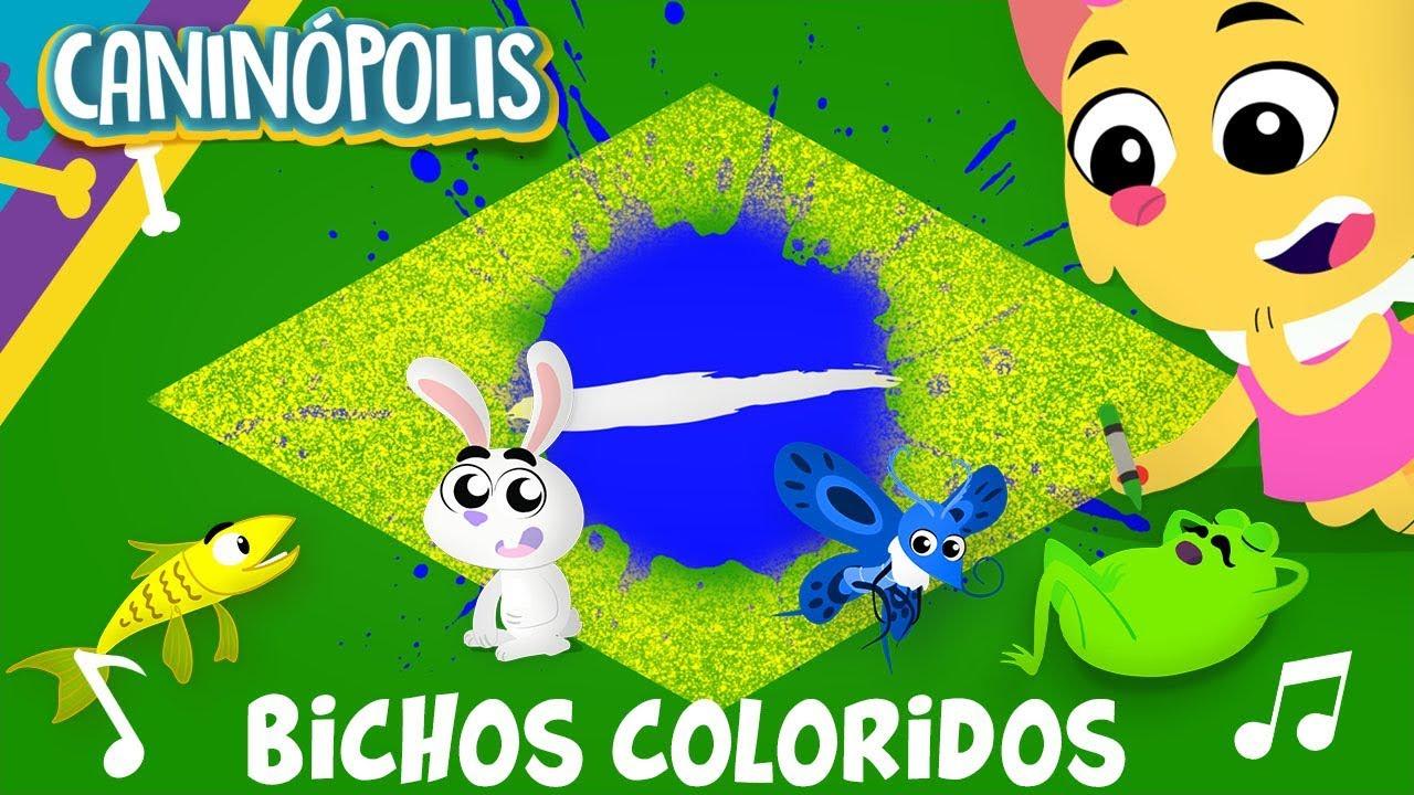 BICHOS COLORIDOS - CANINÓPOLIS | Músicas Infantis