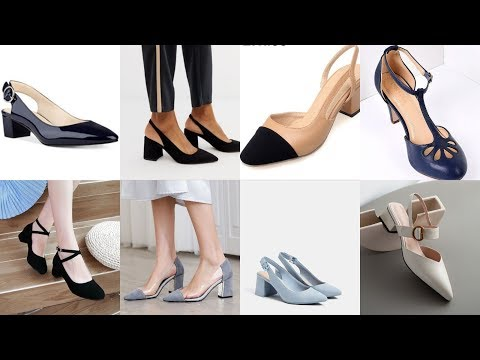 Very Very Latest Upcoming Fashion Trend Of Square Toe Pum Shoes Sandals For Working Women