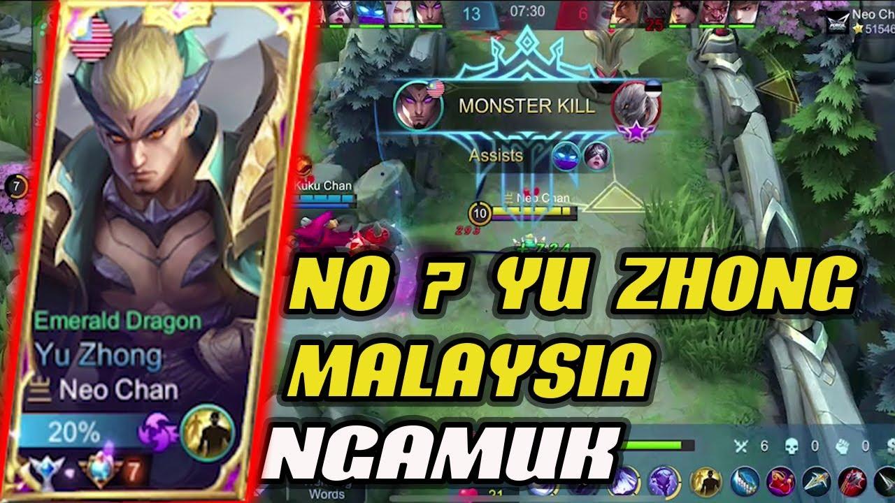 NO 7 YU ZHONG MALAYSIA NGAMUK ! Neo Chan Gameplay Mobile legends malaysia